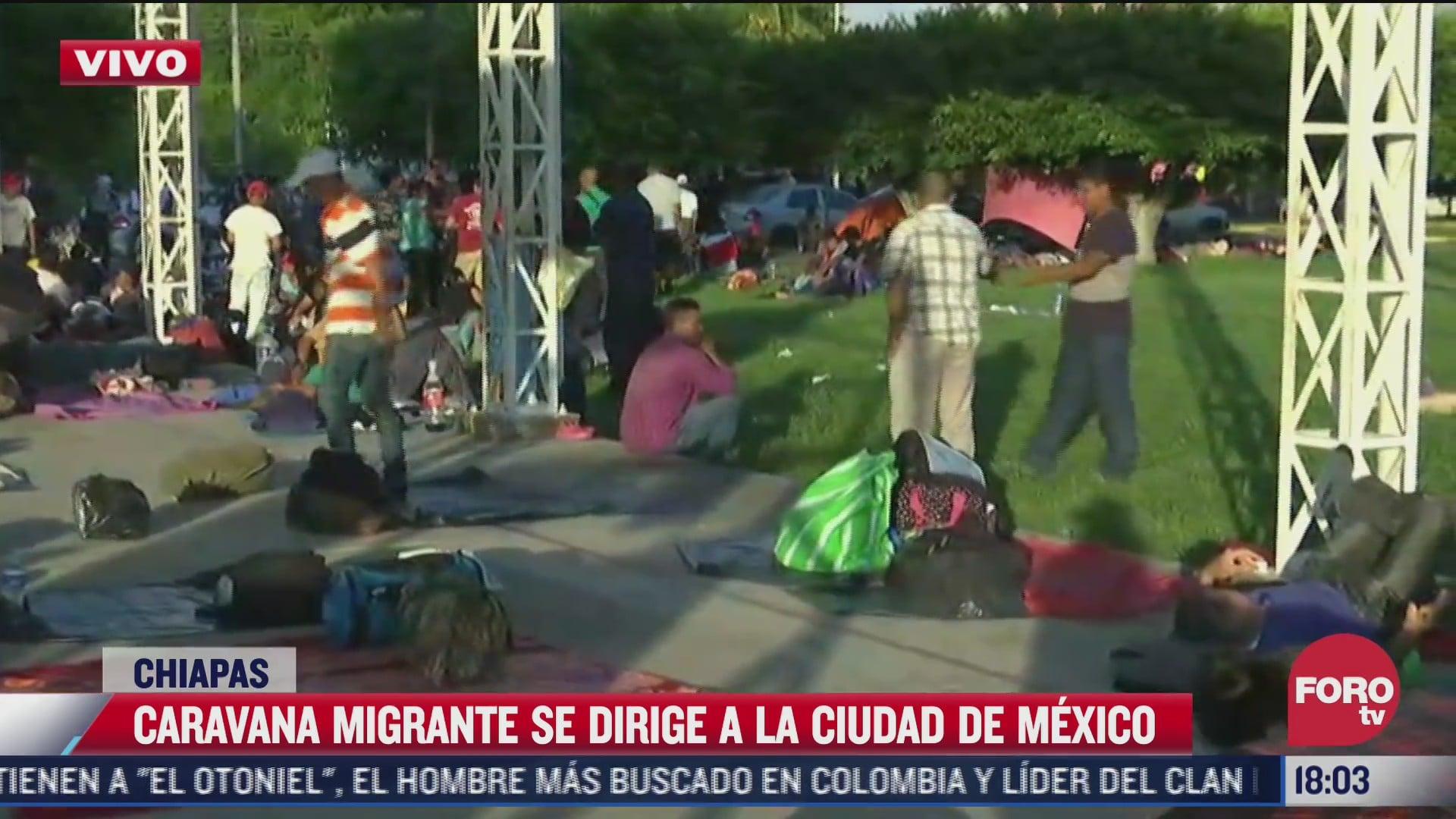 caravana migrante instala campamento en tapachula chiapas