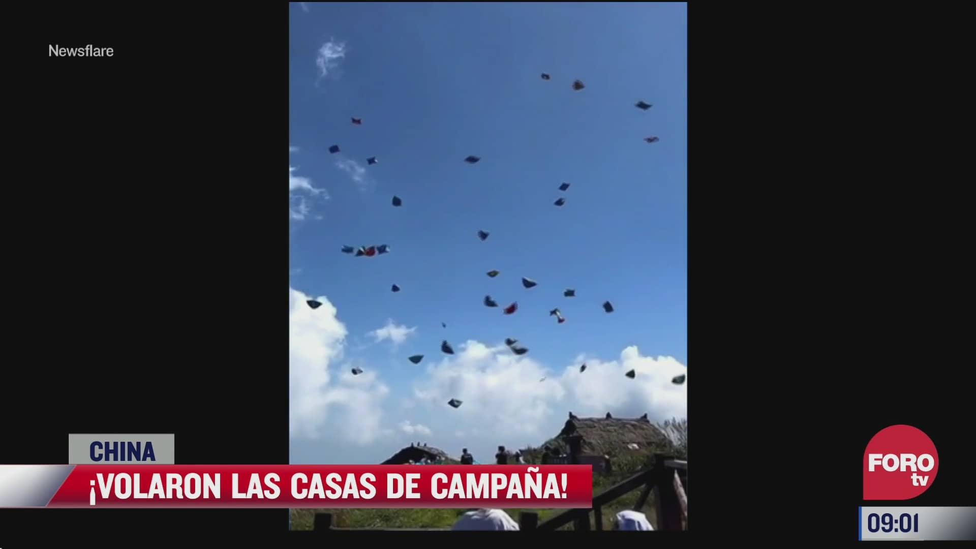 casas de campana salen volando en china