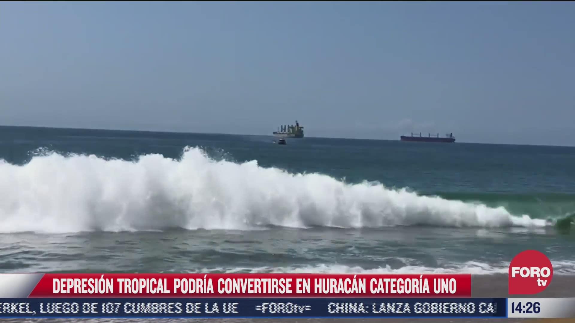conagua preve que depresion tropical se convierta en huracan