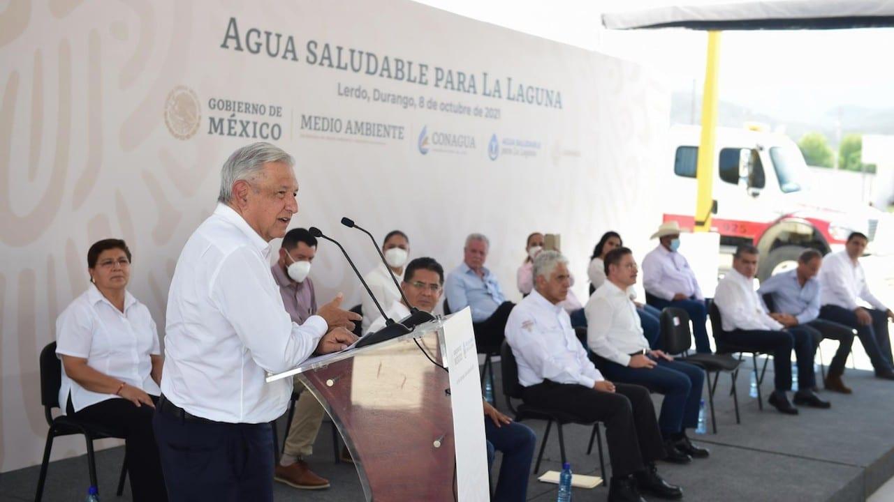 El presidente López Obrador en Durango para hablar del programa de Agua Saludable para La Laguna (lopezobrador.org)