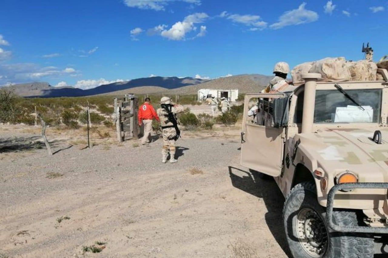Continúa búsqueda de migrantes en el desierto de Ojinaga, Chihuahua.