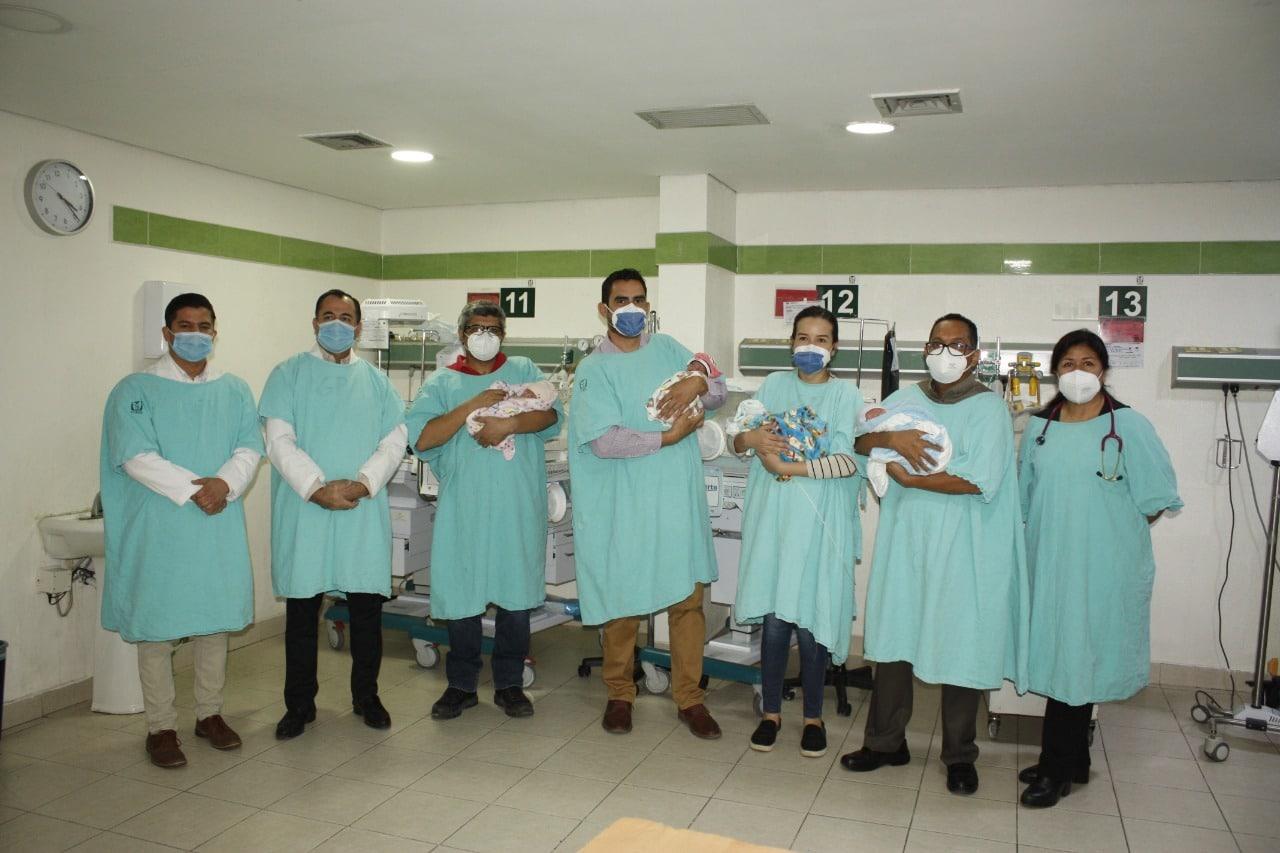Cuatrillizos en hospital de Hermosillo (IMSS)