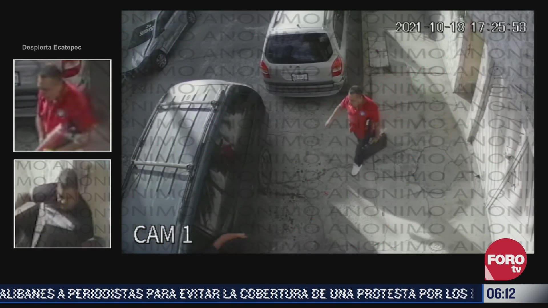 cuatro sujetos roban casa en ecatepec estado de mexico