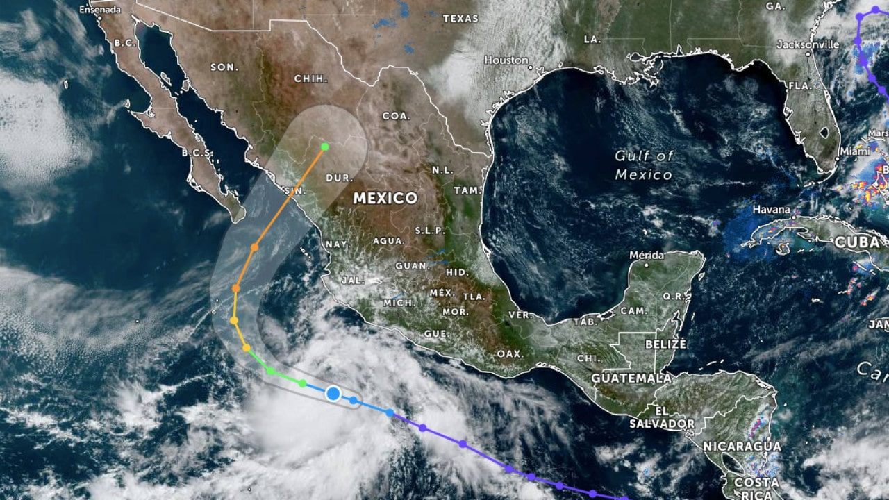 Se forma Depresión Tropical 16-E frente a costas de Colima y Jalisco