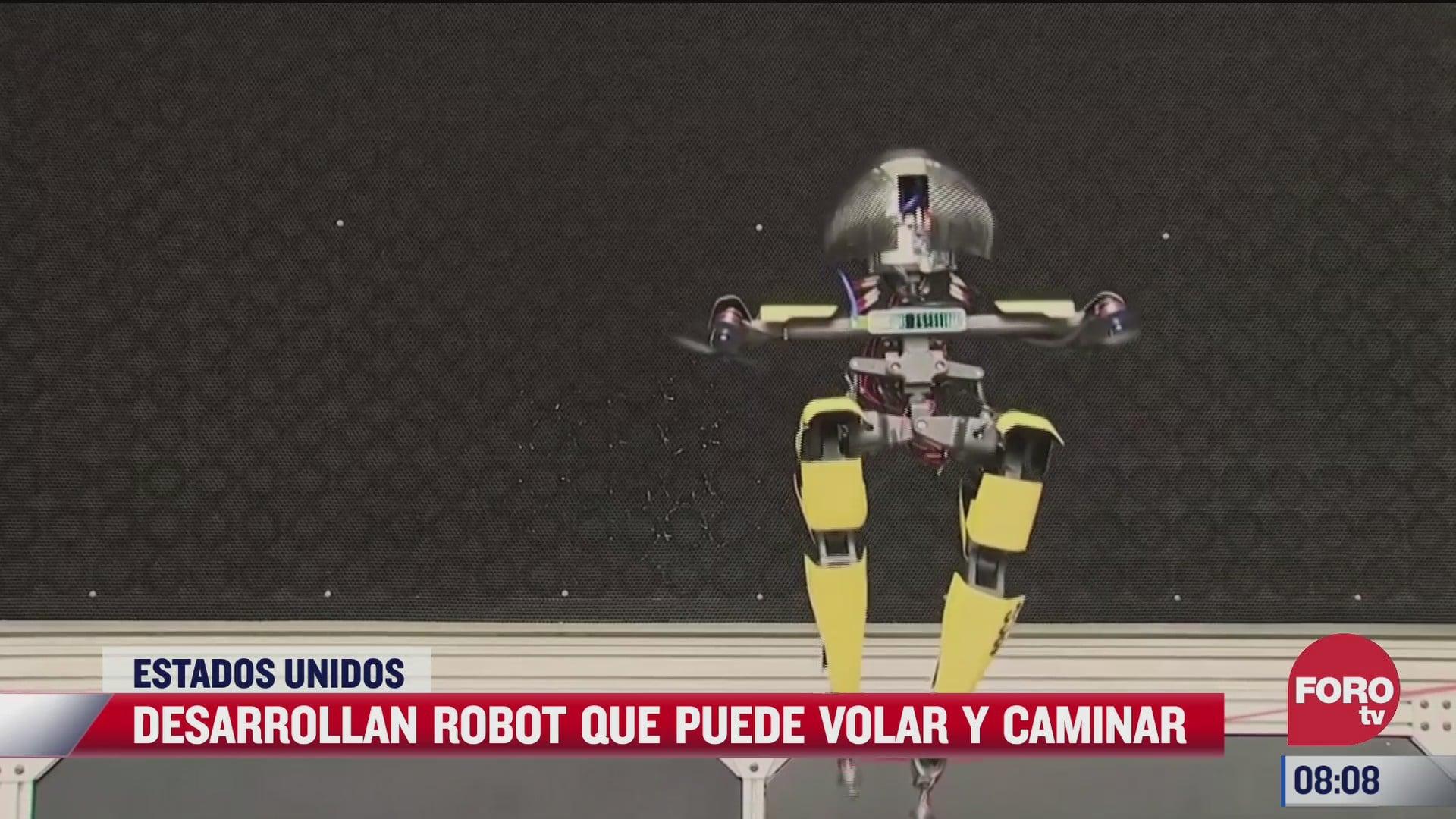 desarrollan en estados unidos robot que puede volar y caminar