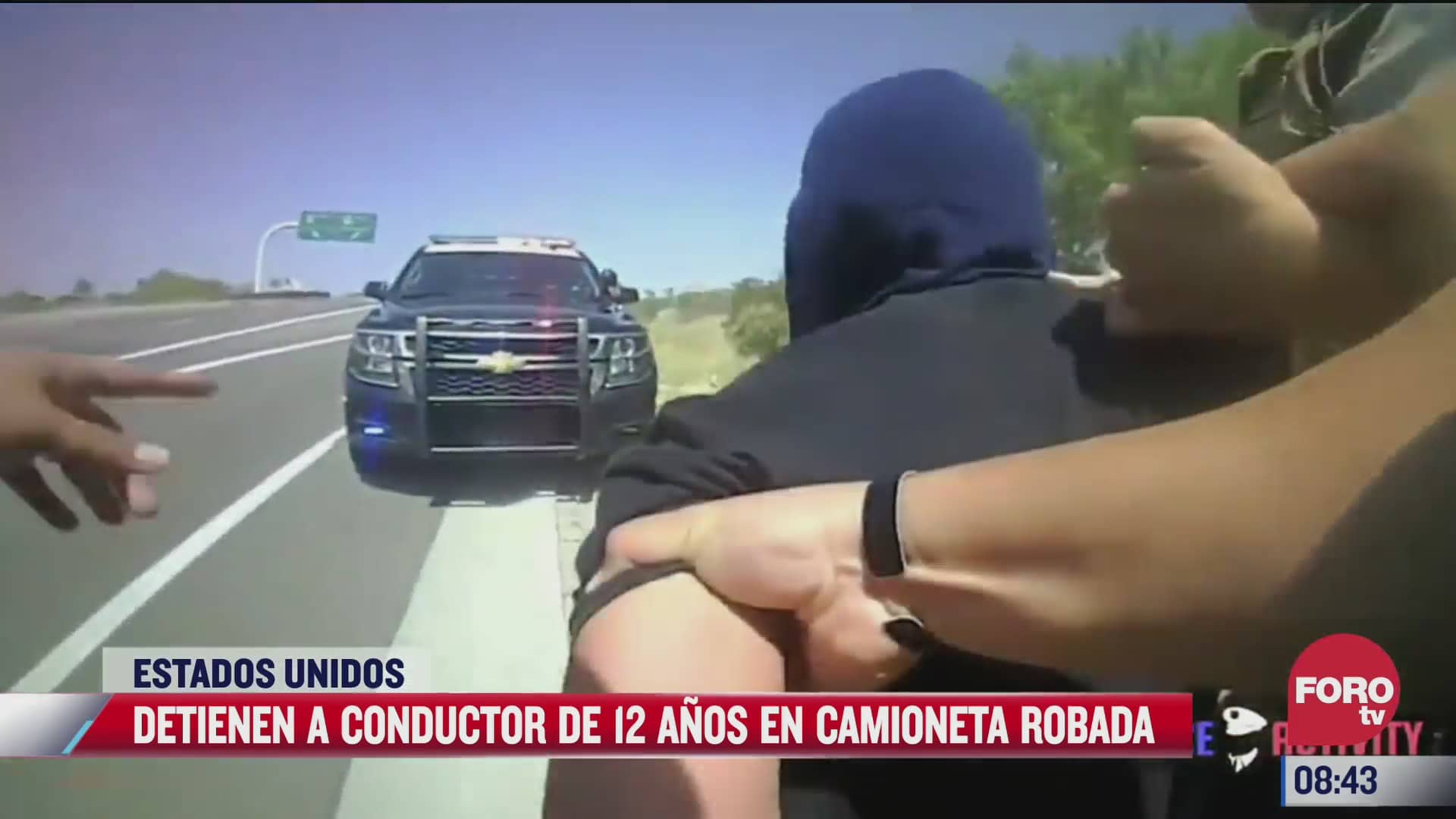 detienen a conductor de 12 anos en camioneta robada en estados unidos