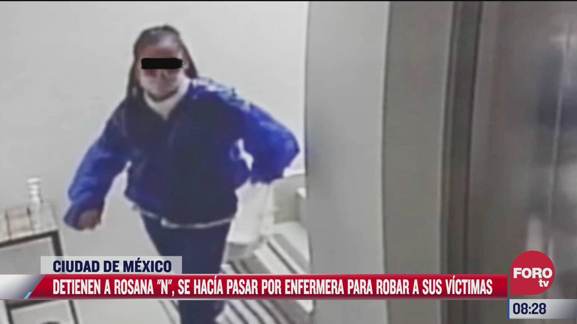 detienen a mujer que se disfrazaba de enfermera para cometer robos