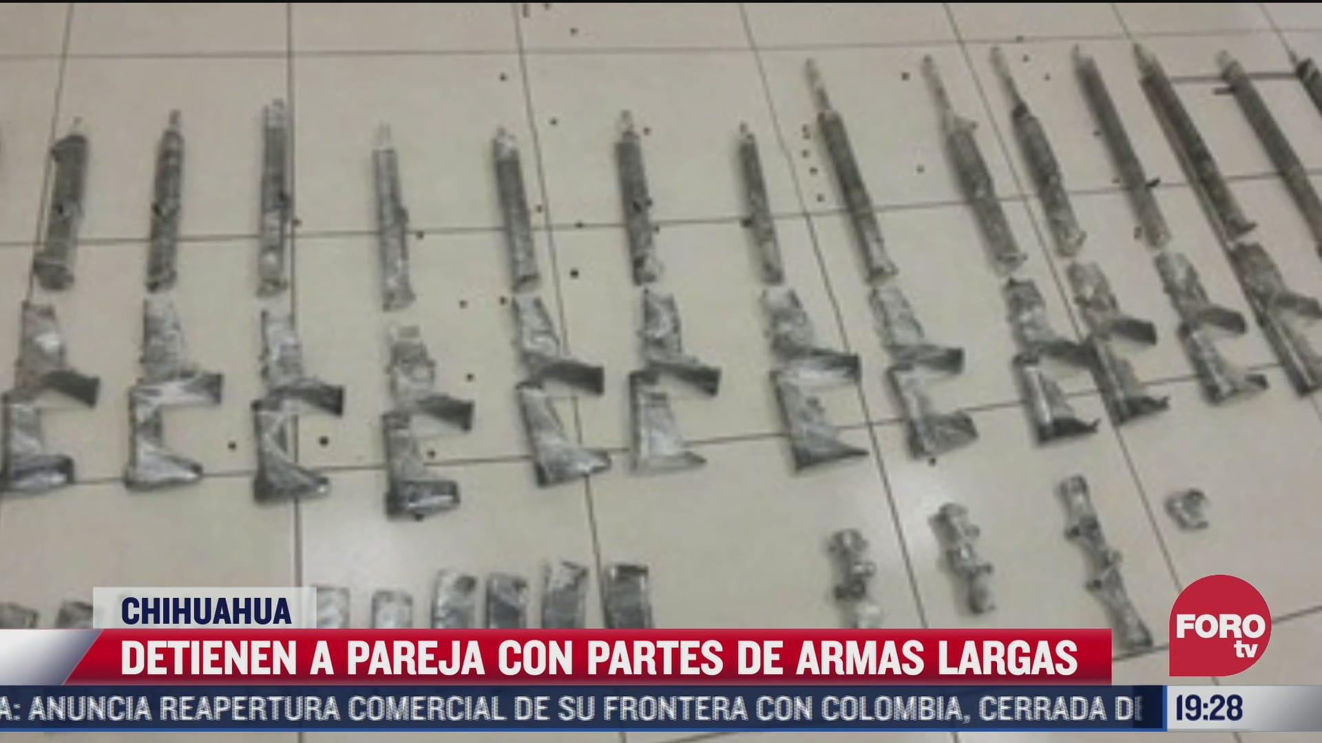 detienen a pareja en posesion de armas largas y cargadores en chihuahua