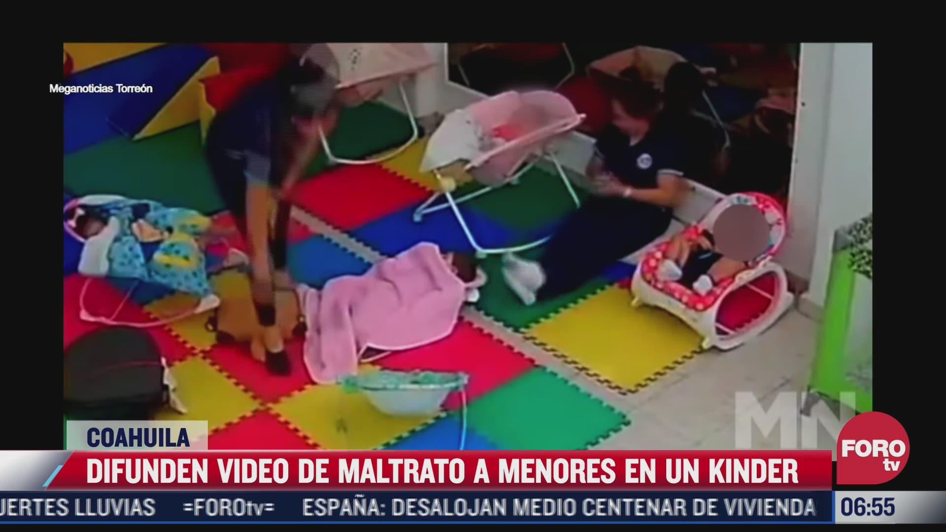 difunden video de maestra maltratando a menores en estancia infantil en monclova