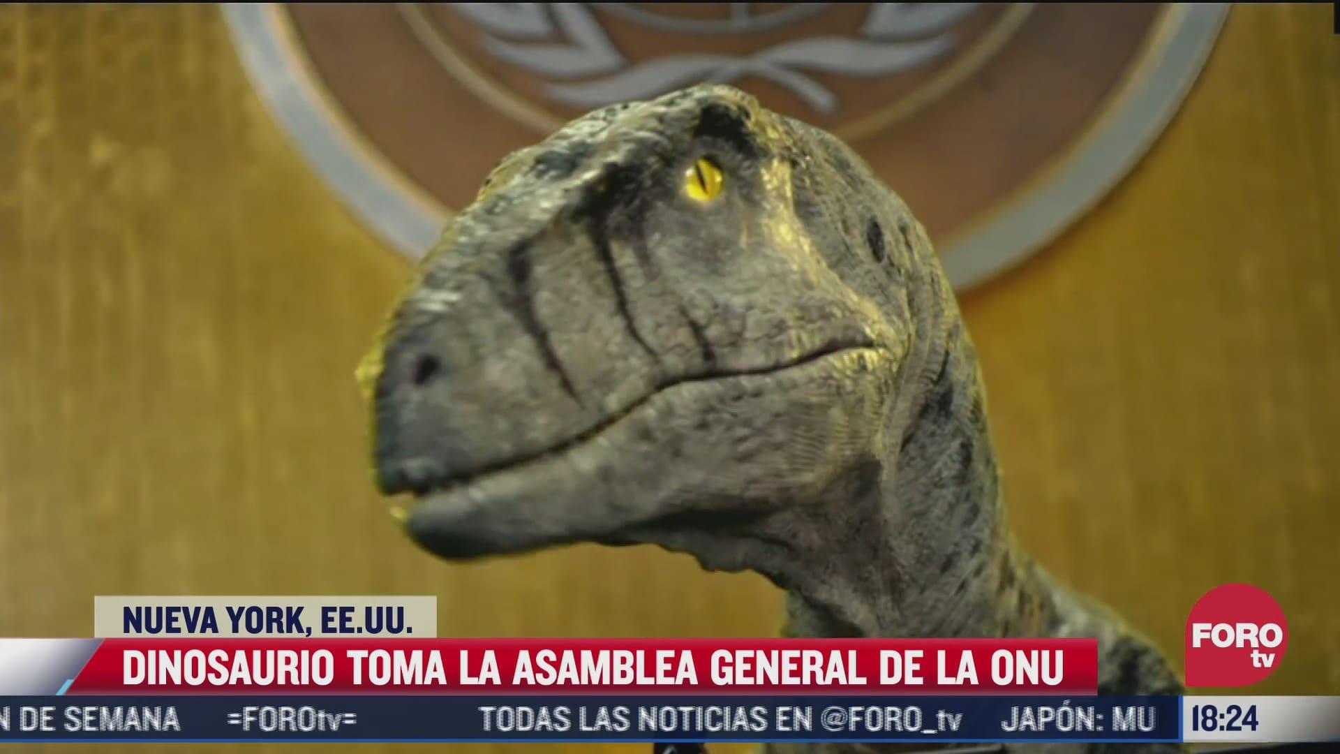 dinosaurio advierte a humanos por el cambio climatico