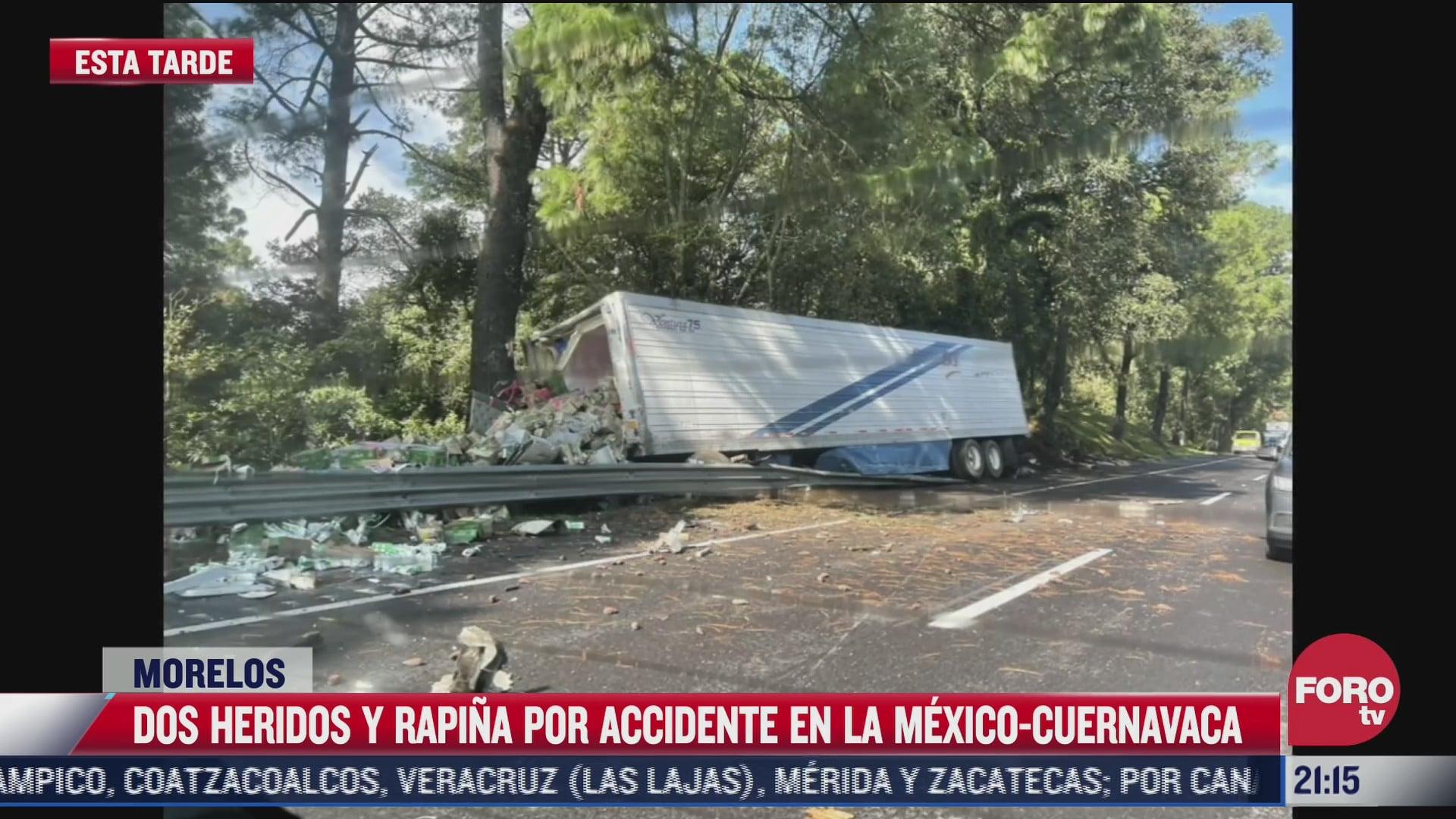 dos personas resultan gravemente heridas tras accidente protagonizado por trailer en la mexico cuernavaca
