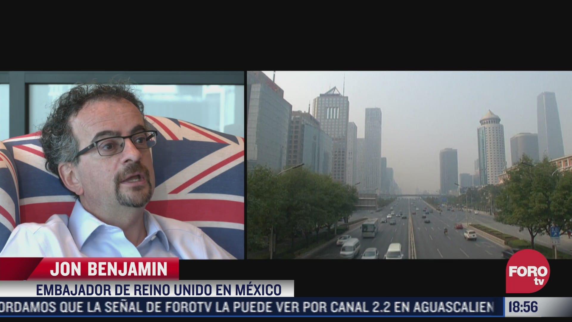 embajador de reino unido en mexico habla sobre la cop