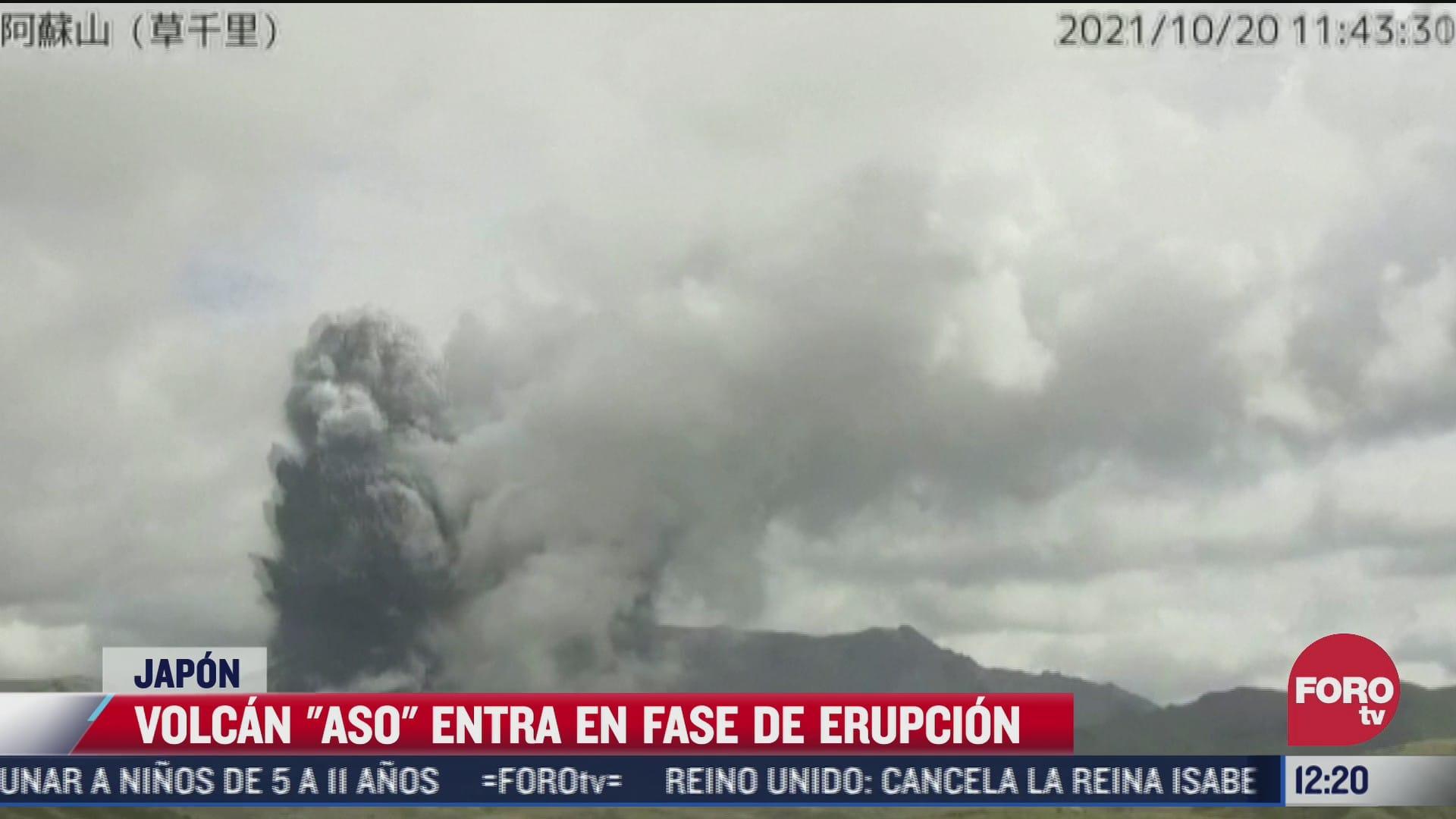 entra en erupcion el volcan monte aso en japon