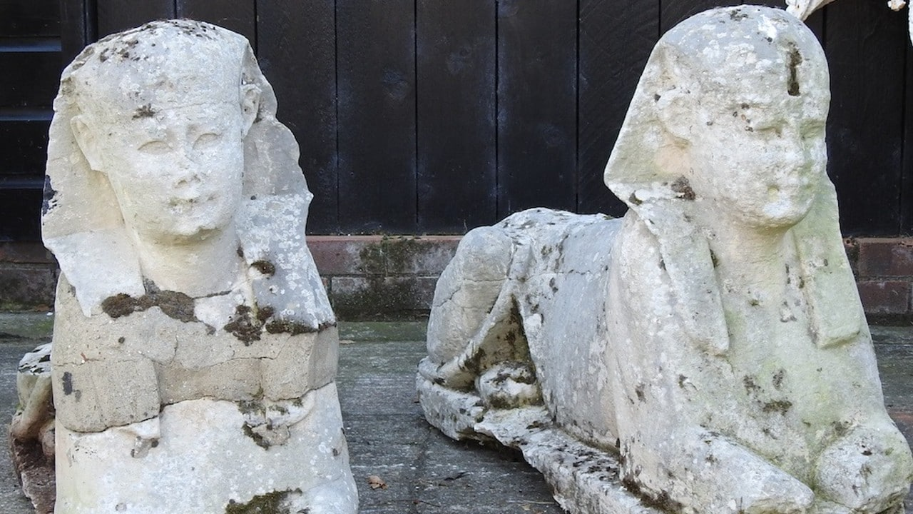 reliquias, Egipto, esfinge, subasta