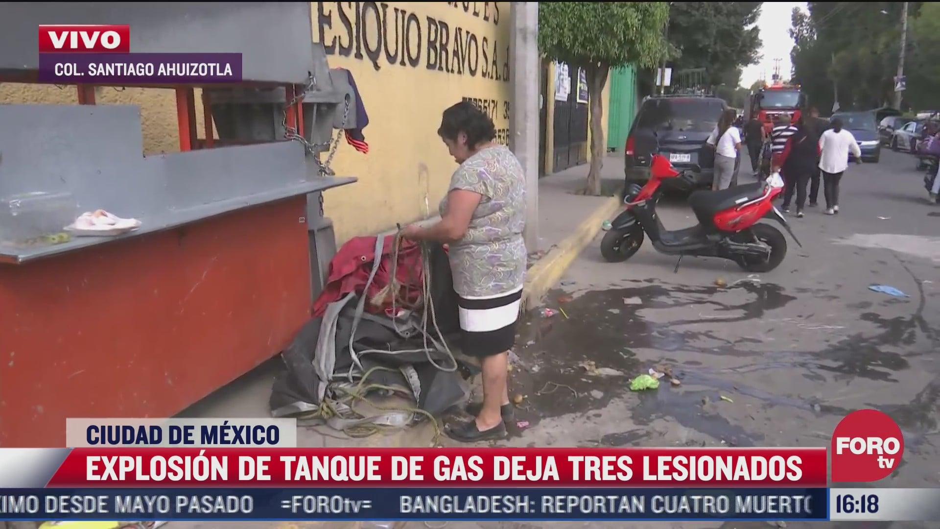 explosion de tanque de gas deja tres lesionados en cdmx
