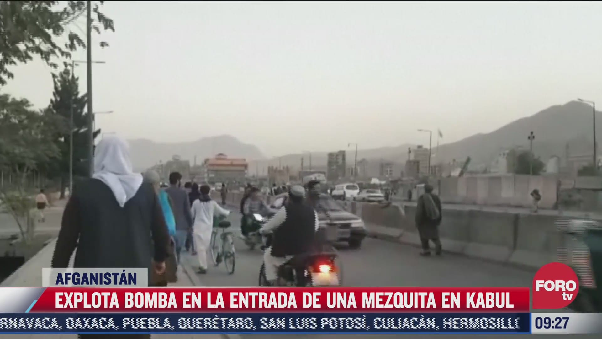 explosion en mezquita en kabul afganistan deja dos muertos
