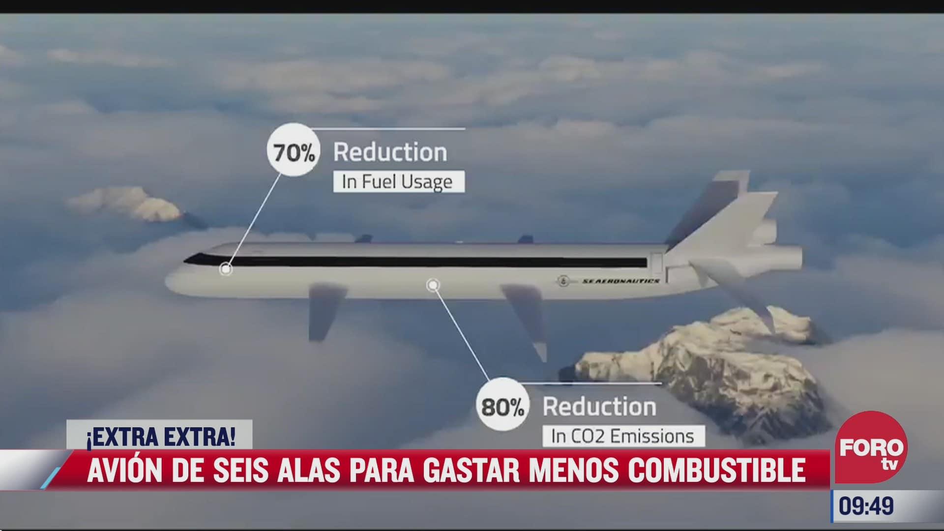 extra extra avion de seis alas para gastar menos combustible
