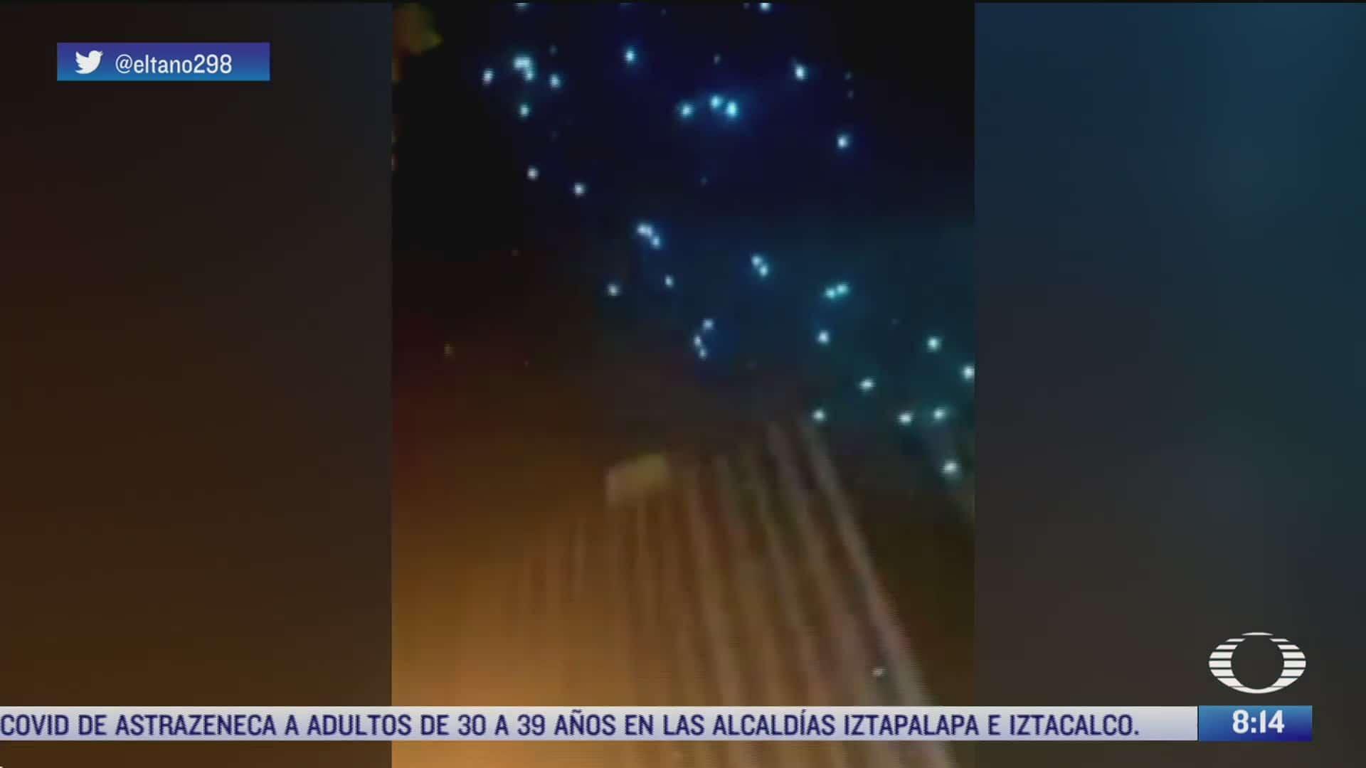 falla tecnica provoca que drones caigan sobre la gente