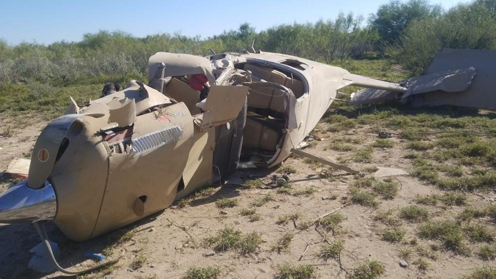 Cae avioneta por falla de motor en Nuevo León.