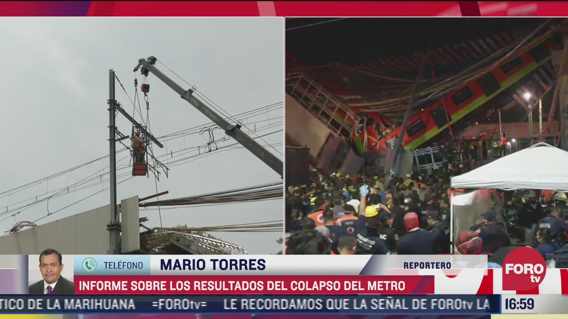 fiscalia de cdmx da informe sobre resultados del colapso de la l12 del metro