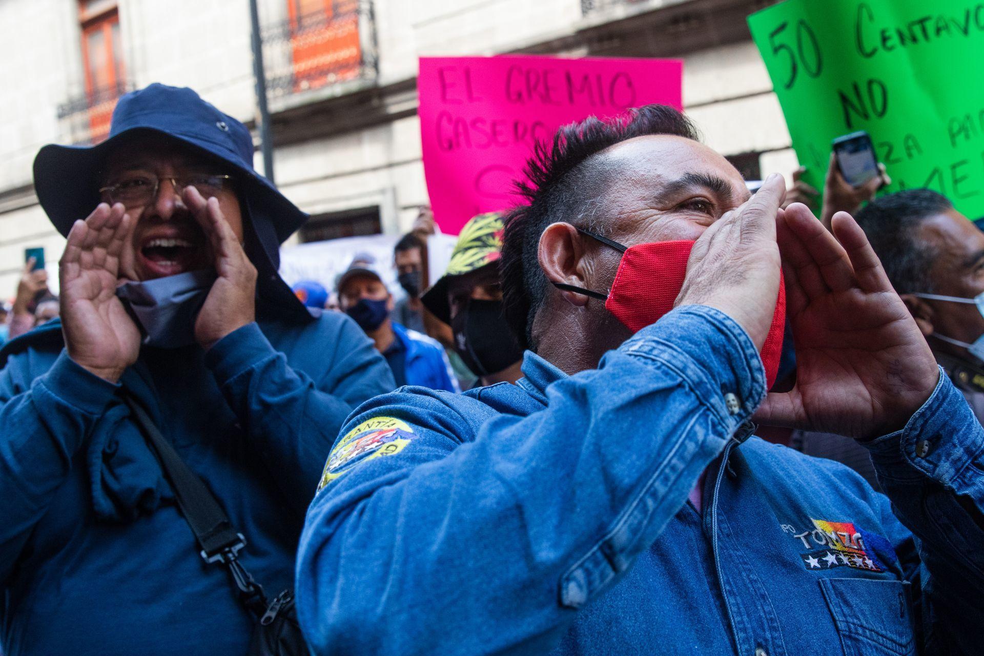 Gaseros del Valle de México realizan una protesta (Cuartoscuro)