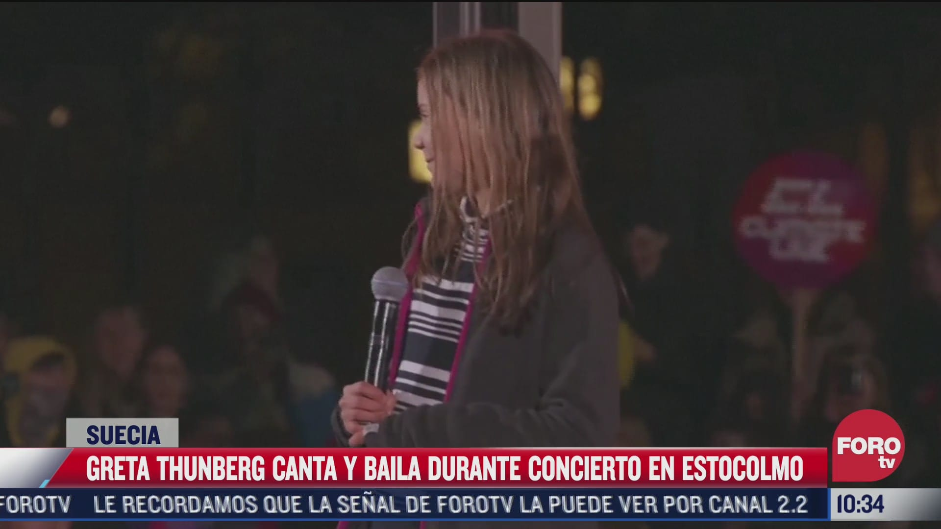 greta thunberg canta y baila durante concierto en estocolmo