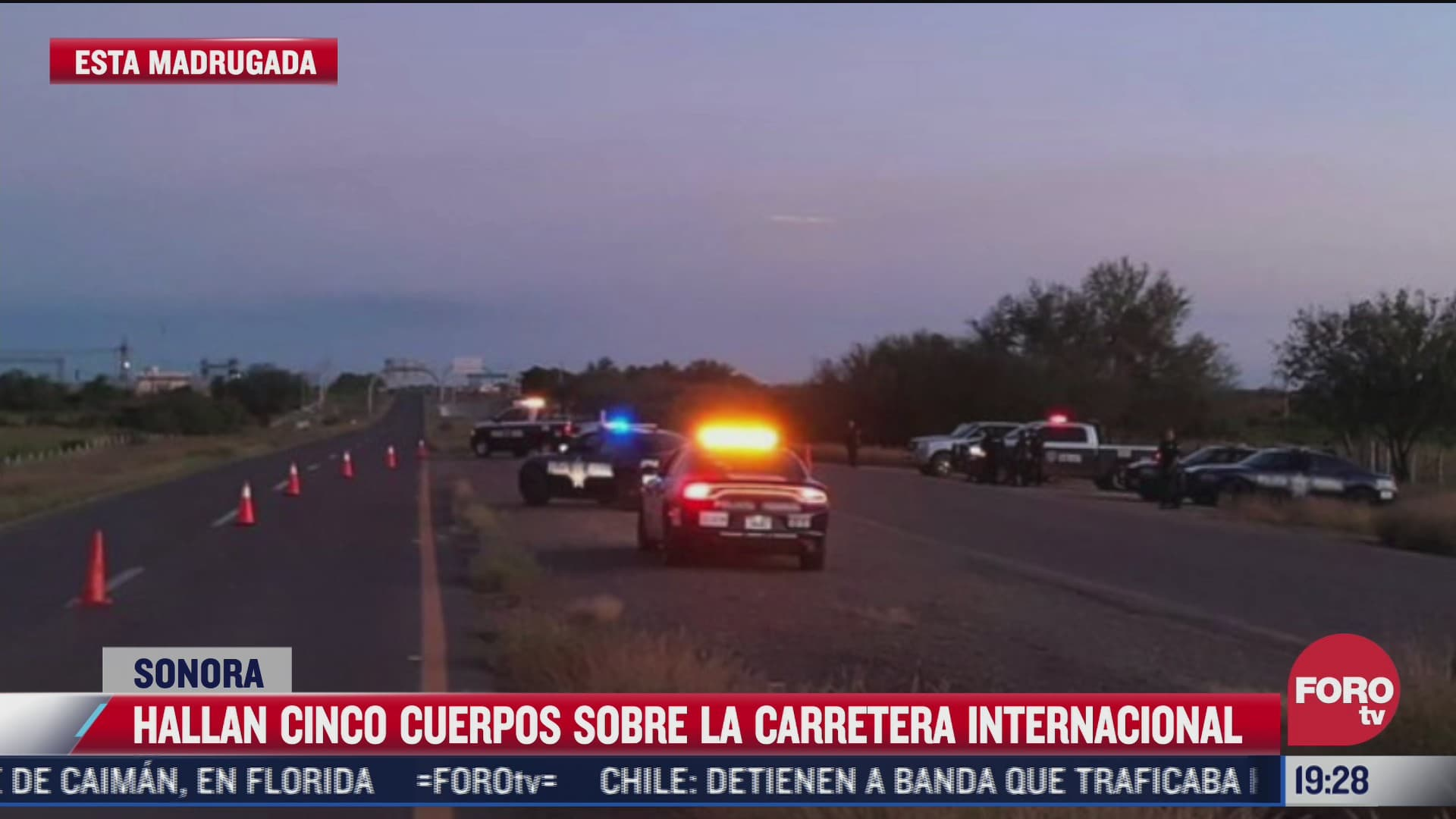 hallan cinco cuerpos y dos personas heridas en la carretera internacional en sonora