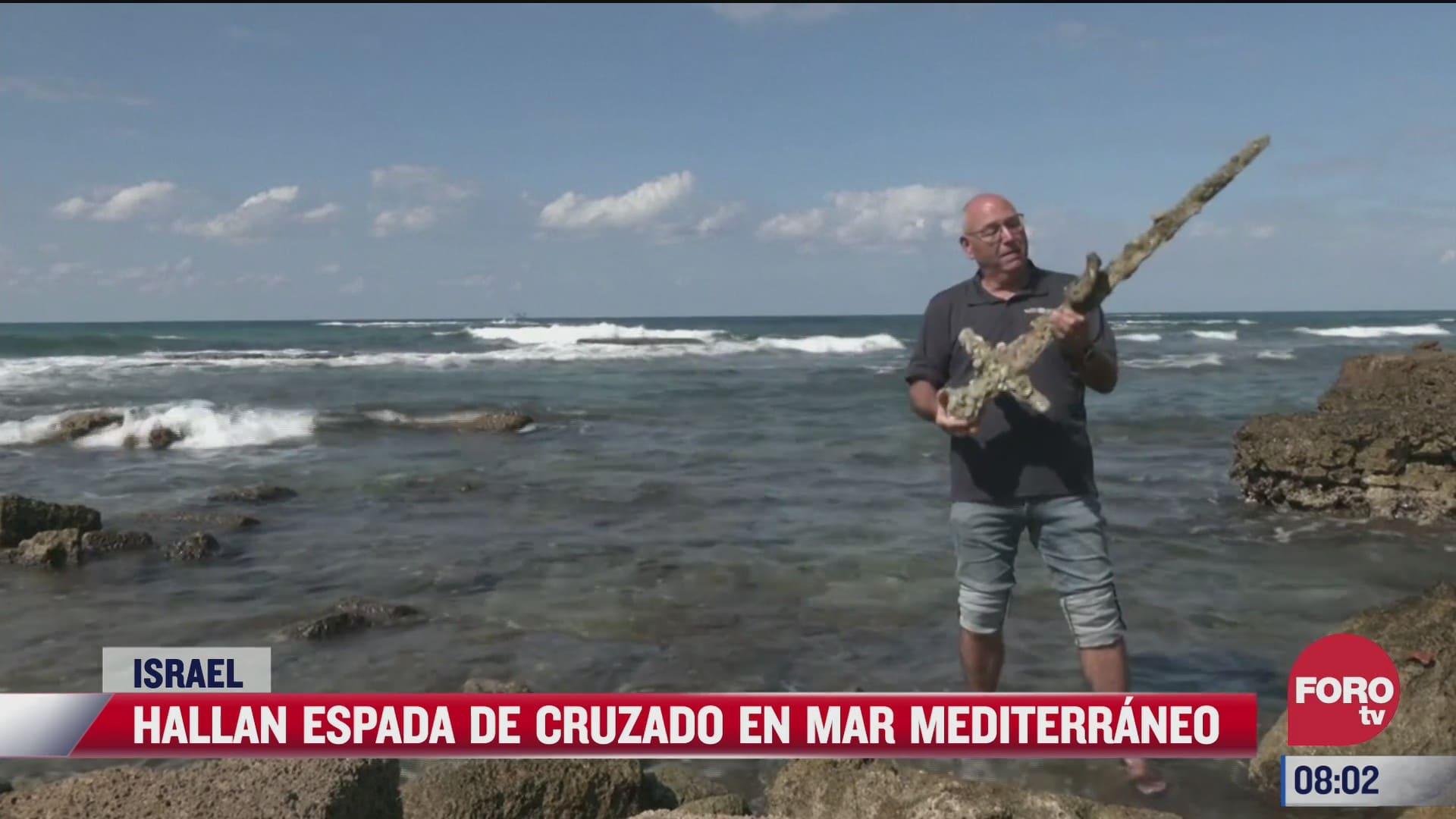 hallan espada de cruzado en mar mediterraneo en israel