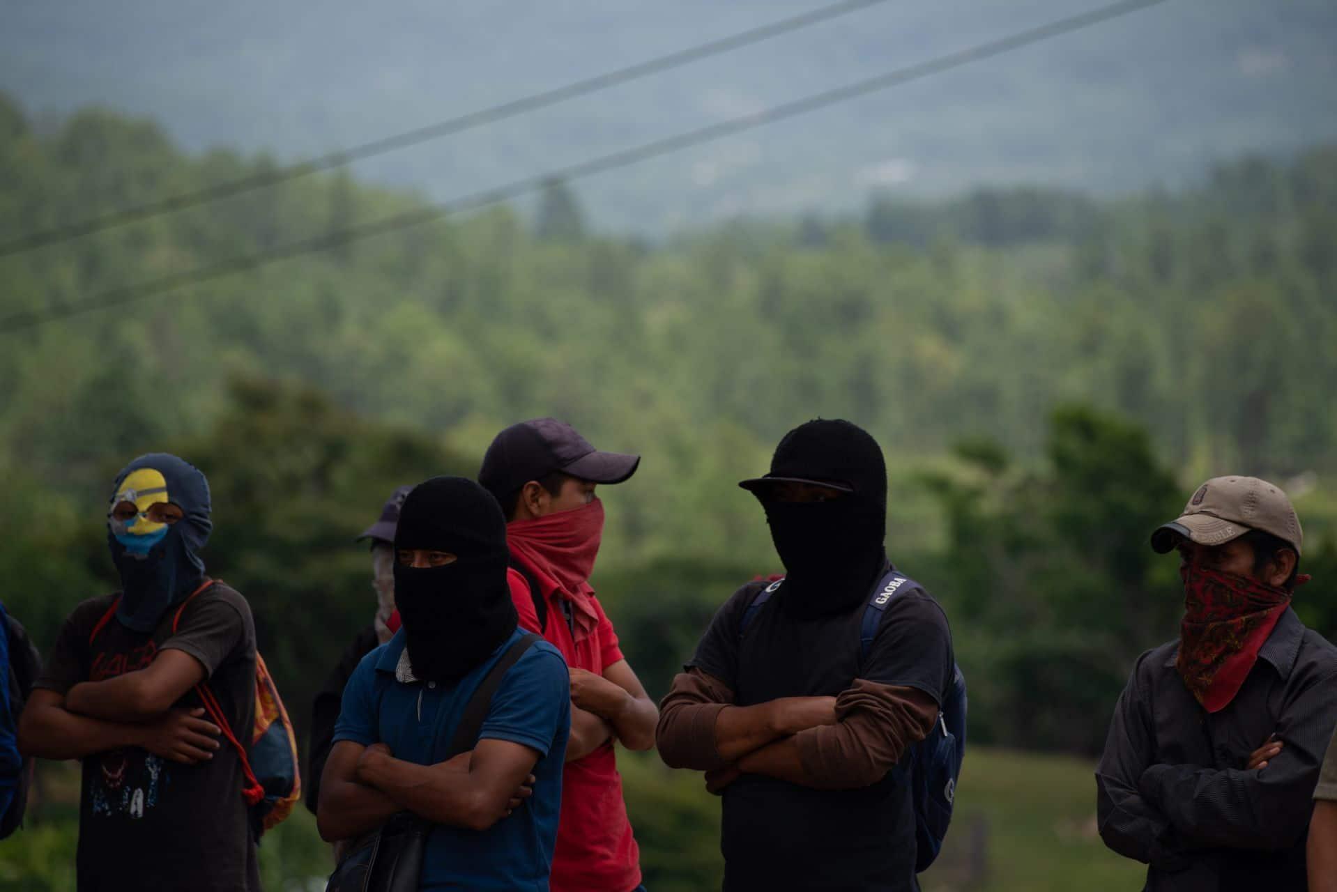 Grupo de hombres con capuchas en Chiapas (Cuartoscuro/archivo)
