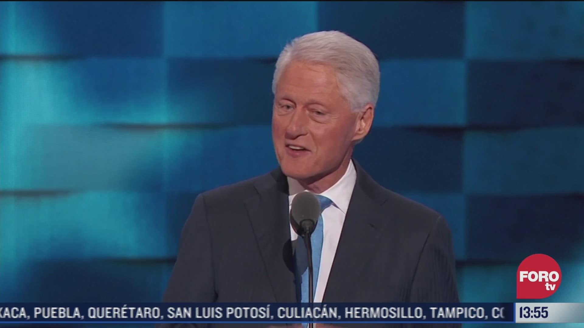 hospitalizan al expresidente de estados unidos bill clinton por infeccion urinaria