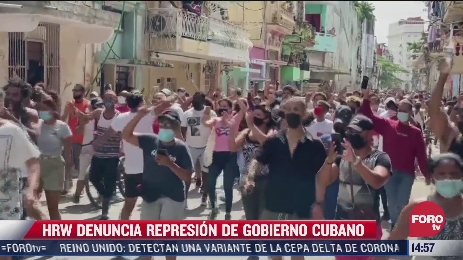 human rights watch acusa a gobierno cubano de cometer abusos en protestas