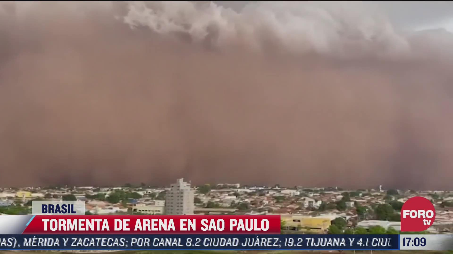 impactante tormenta de arena en brasil