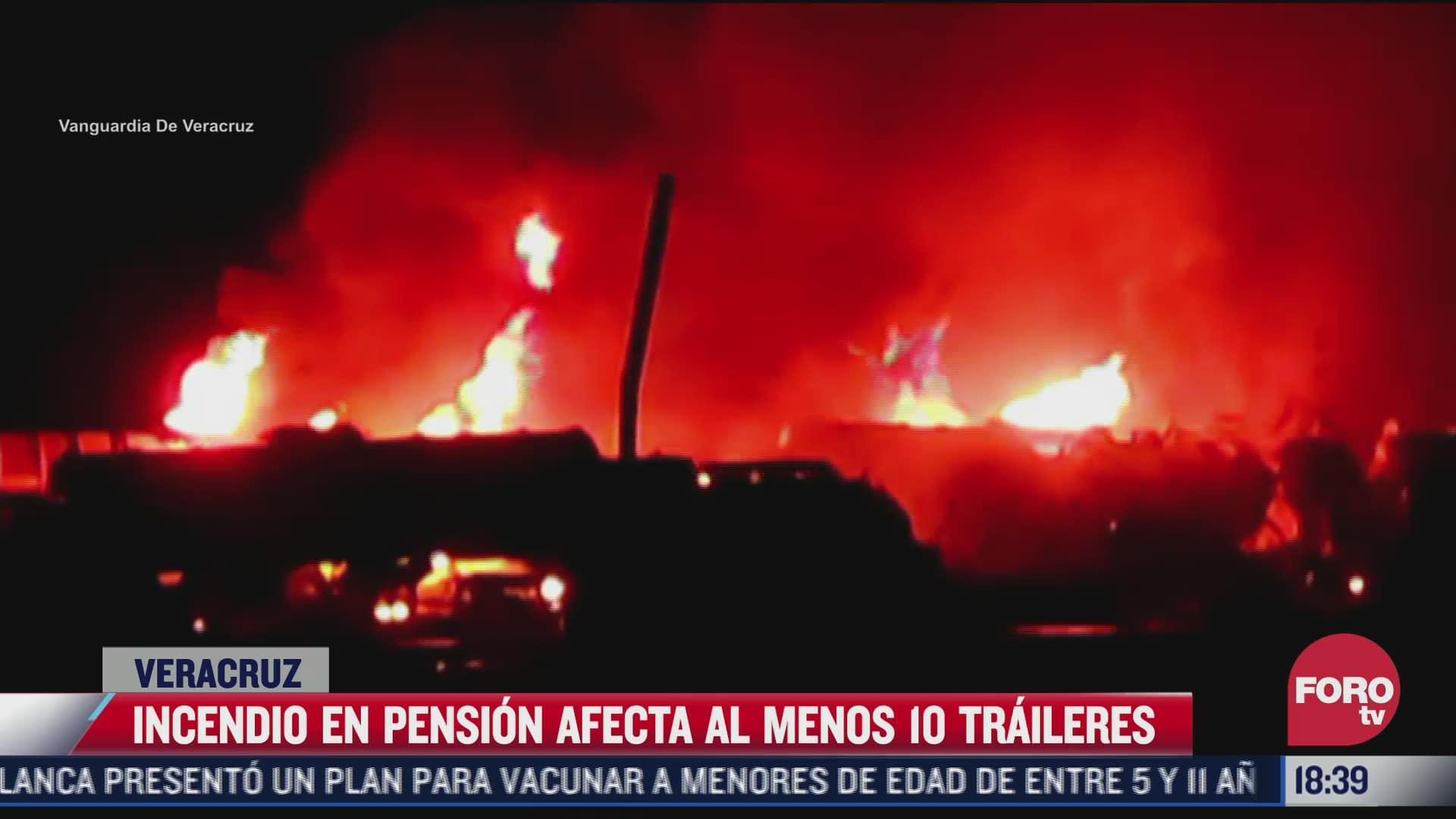 incendio en pension afecta al menos 10 traileres