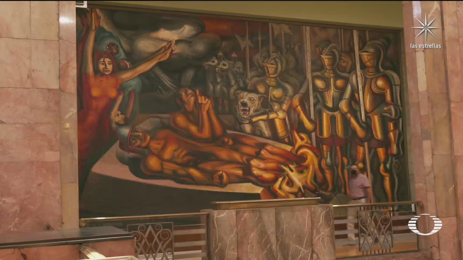 inician trabajos de restauracion de murales del museo de bellas artes