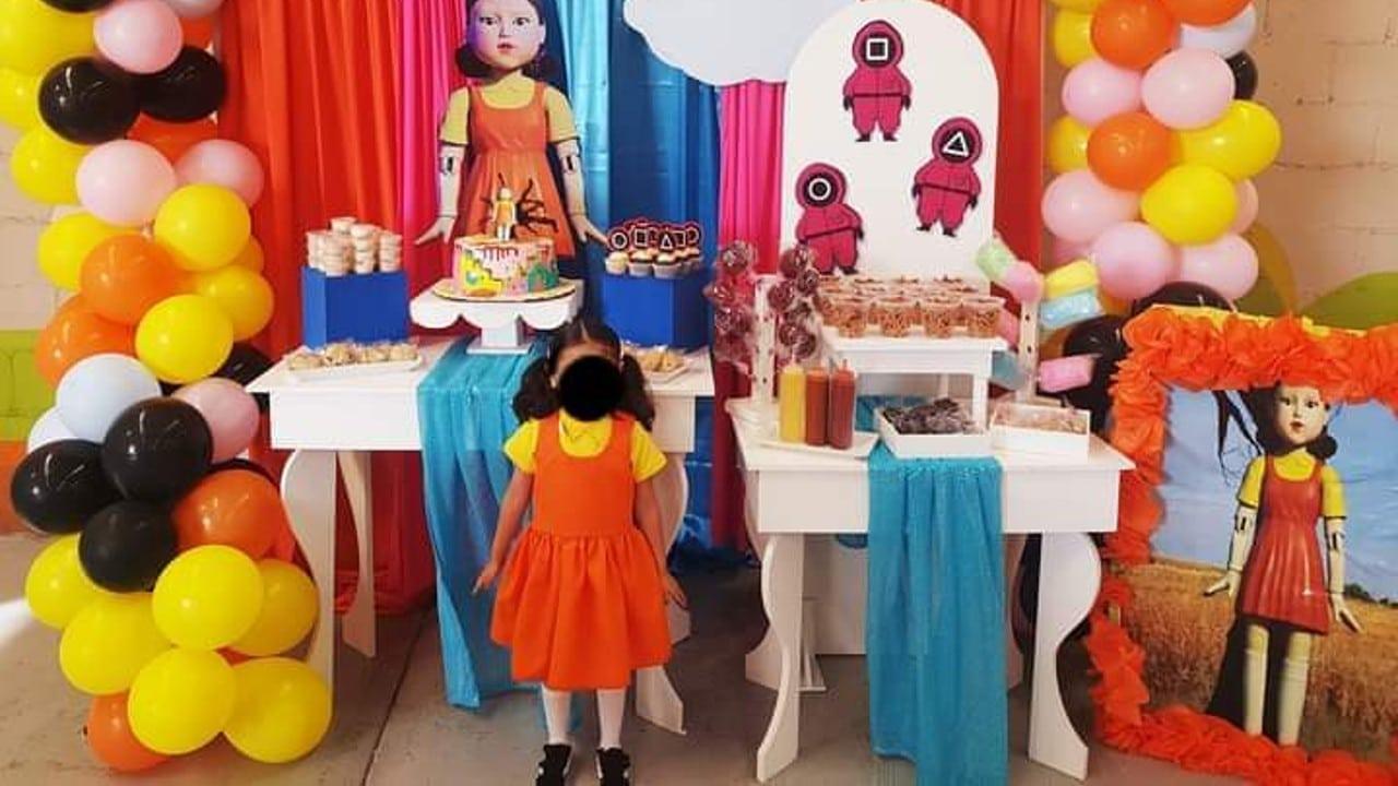 Juego del Calamar, cumpleaños, redes sociales, viral, niños, Facebook