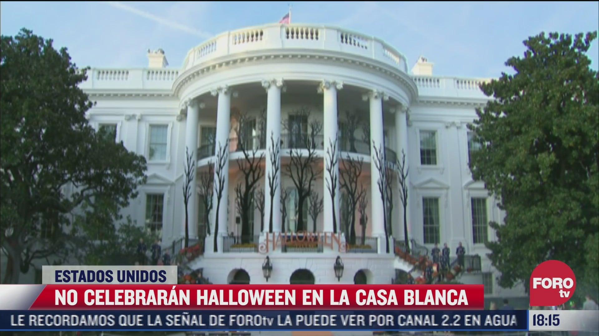 la casa blanca se queda sin festejo de halloween