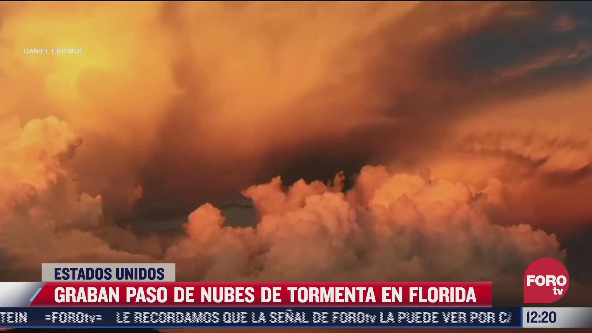 las impactantes imagenes de una tormenta sobre florida