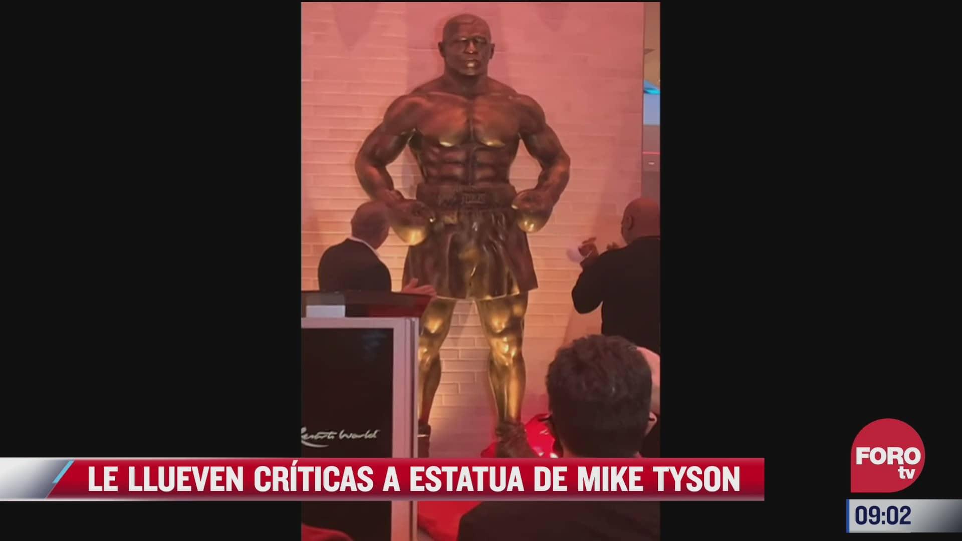 le llueven criticas a estatua de mike tyson
