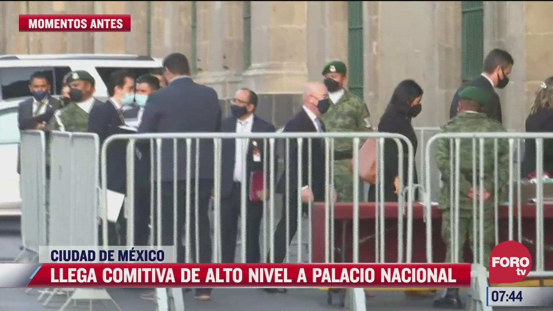 llega comitiva de eeuu de alto nivel a palacio nacional en cdmx