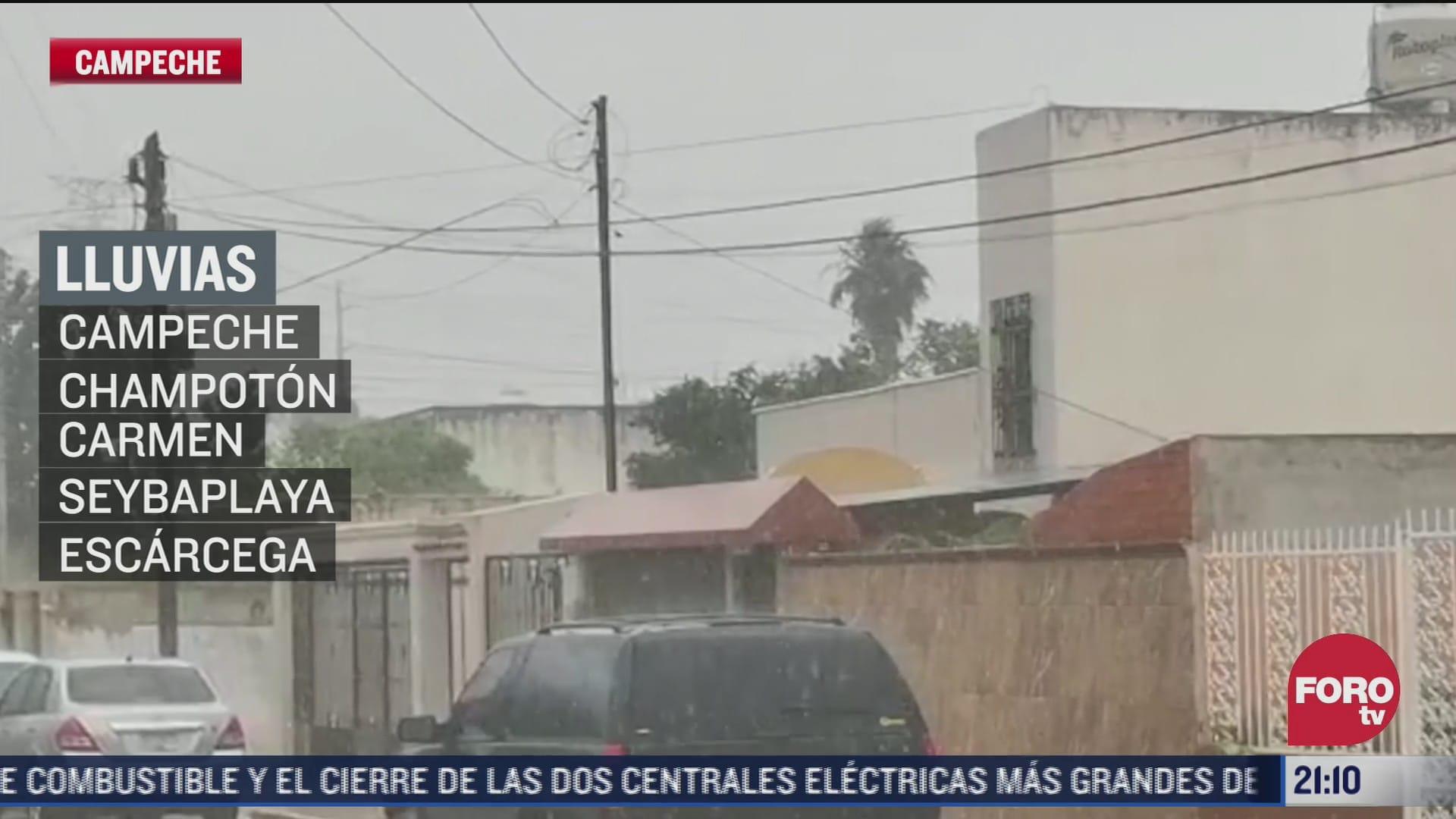 lluvias causan encharcamiento en municipios de campeche