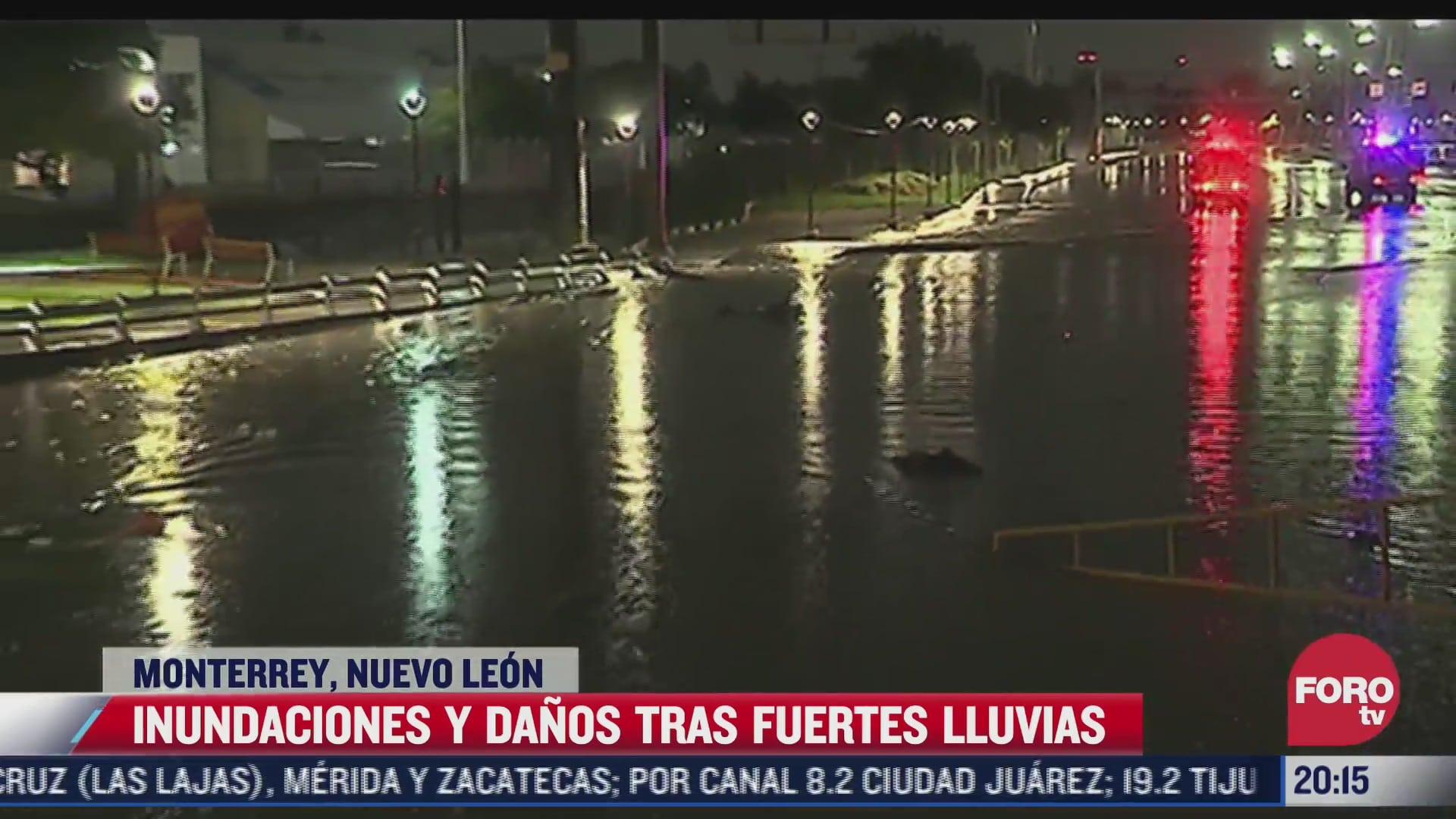 lluvias provocan afectaciones en monterrey