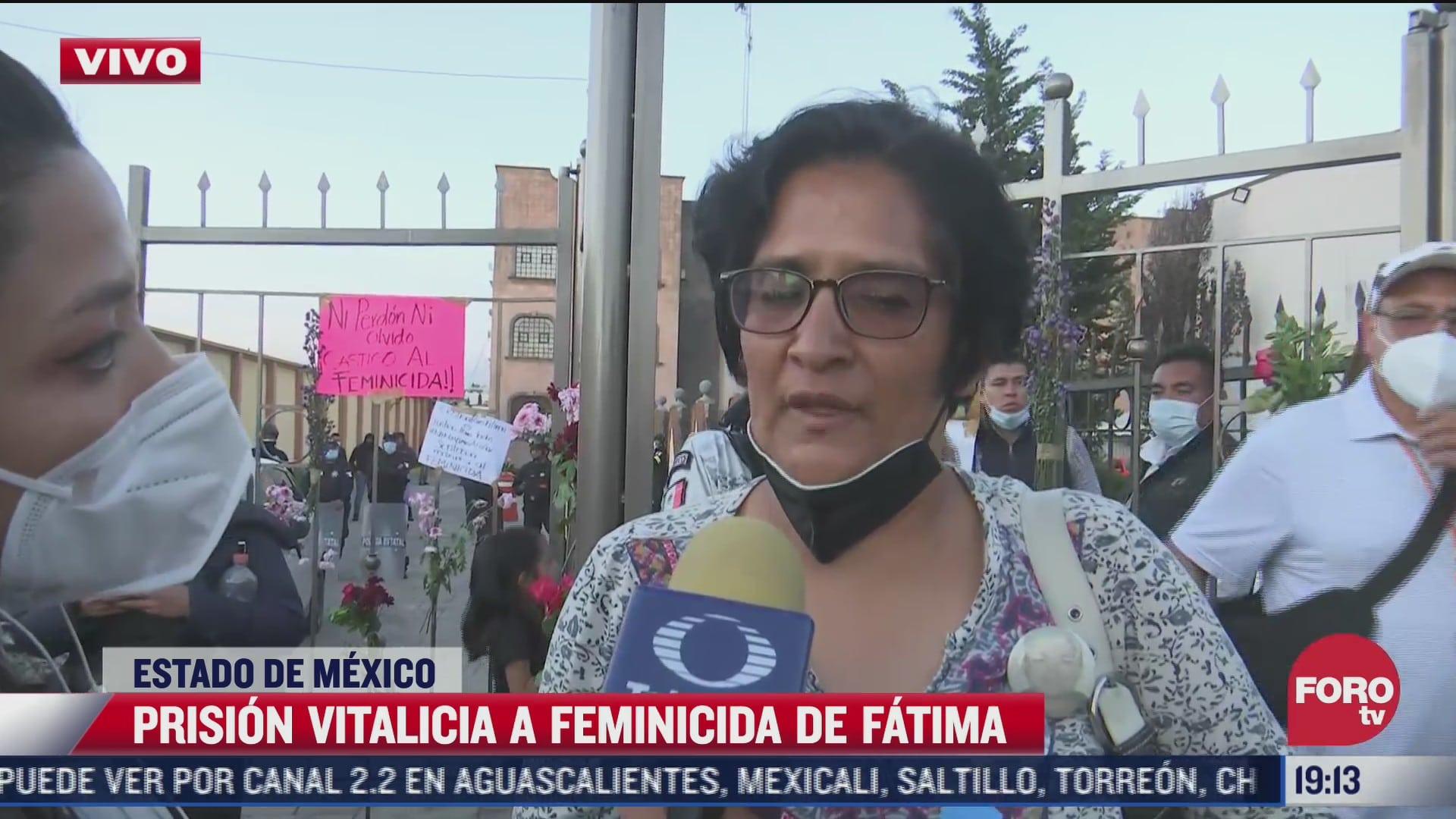 me da un poco de tranquilidad dice mama de fatima tras sentencia contra su feminicida