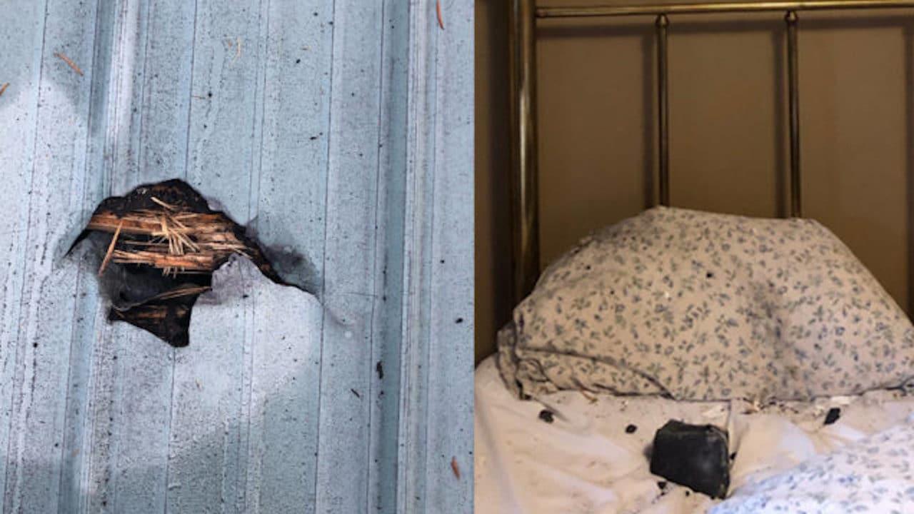 Meteorito almohada cara mujer