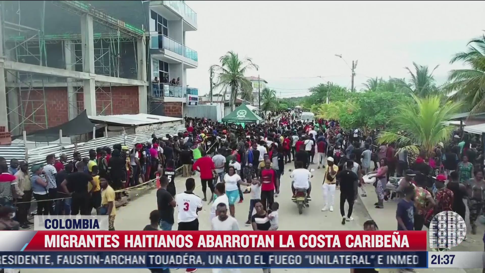 migrantes haitianos abarrotan costa caribena