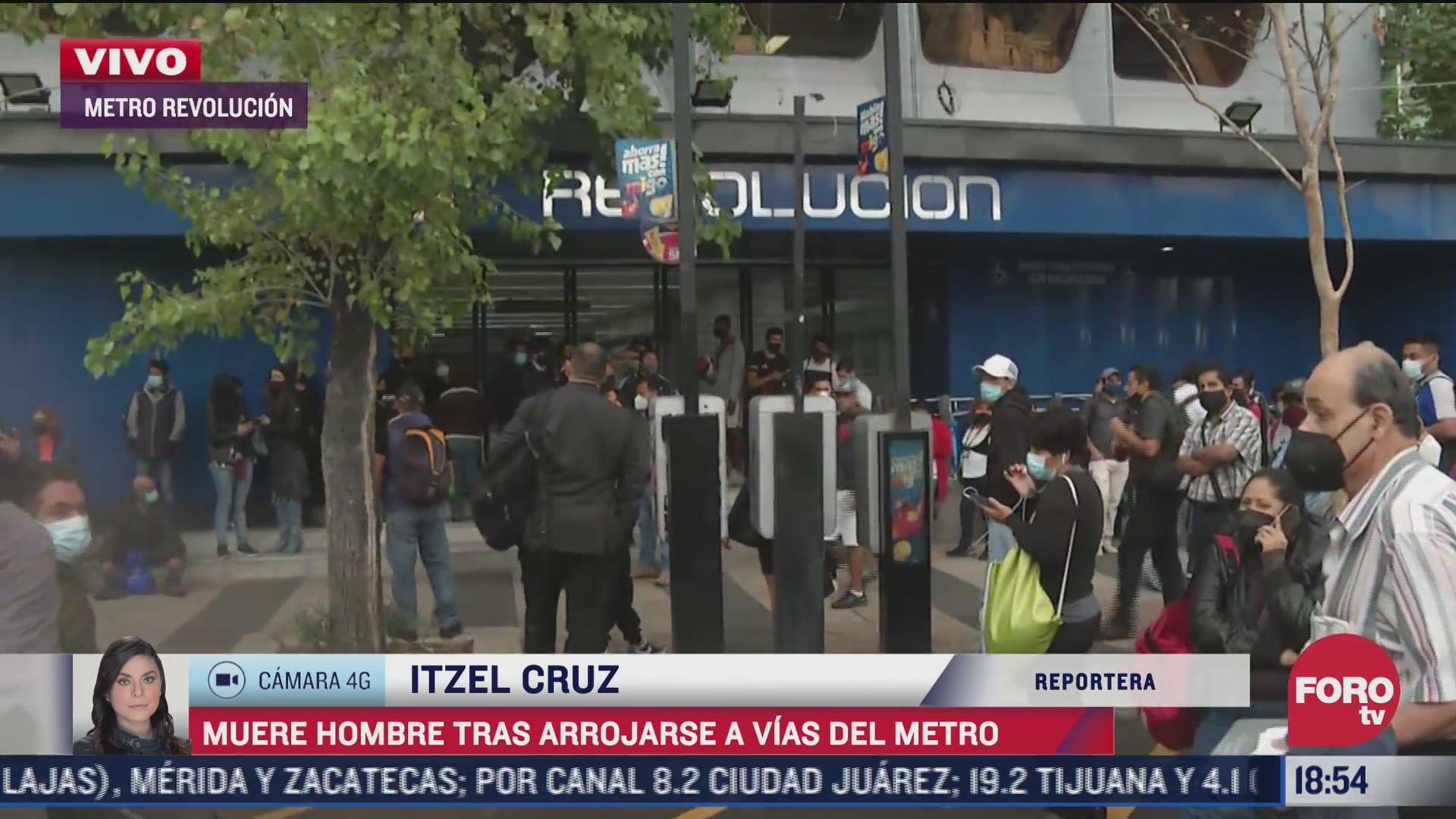 muere hombre tras arrojarse a las vias del metro revolucion
