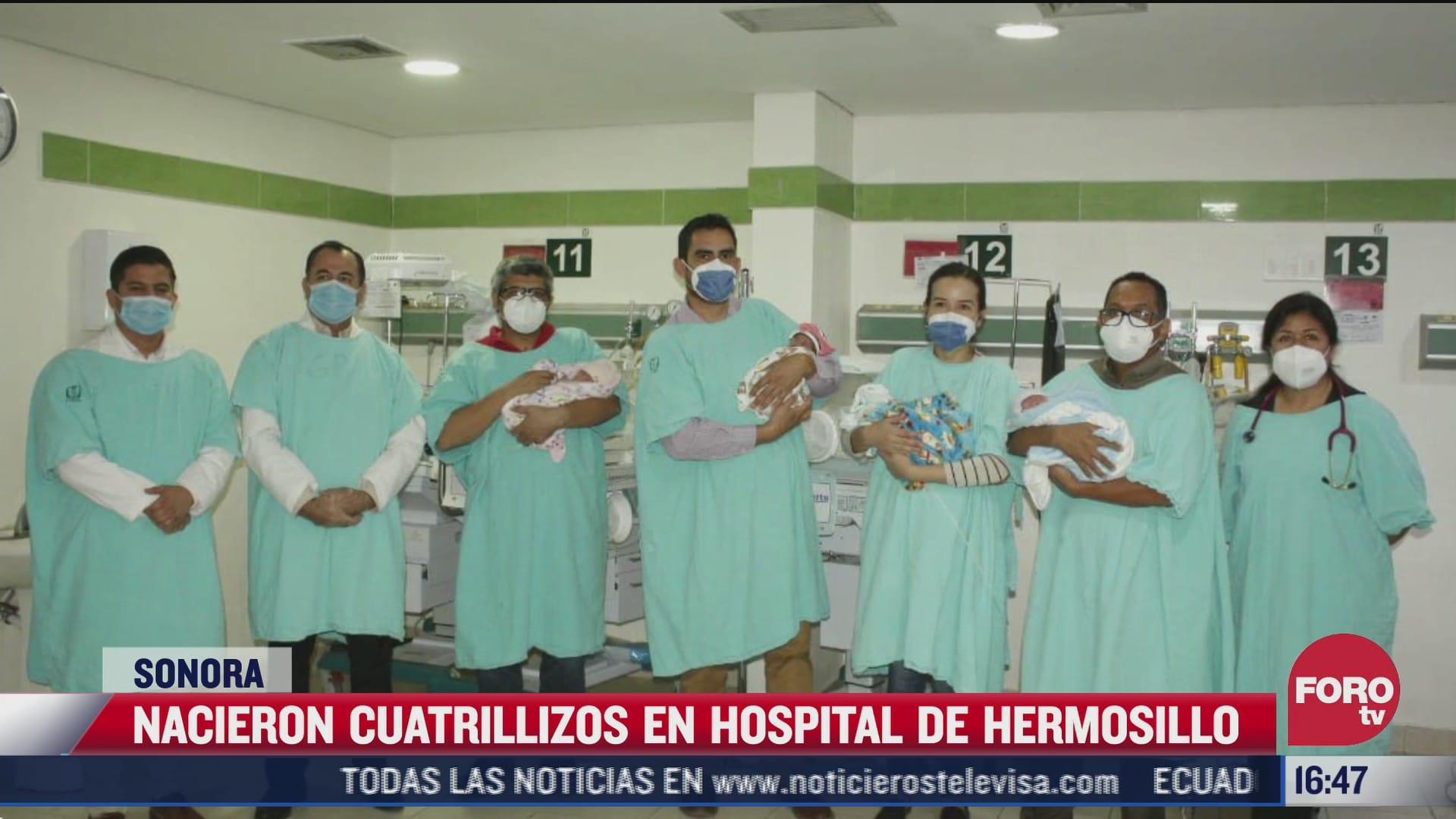 nacen cuatrillizos en hospital de hermosillo