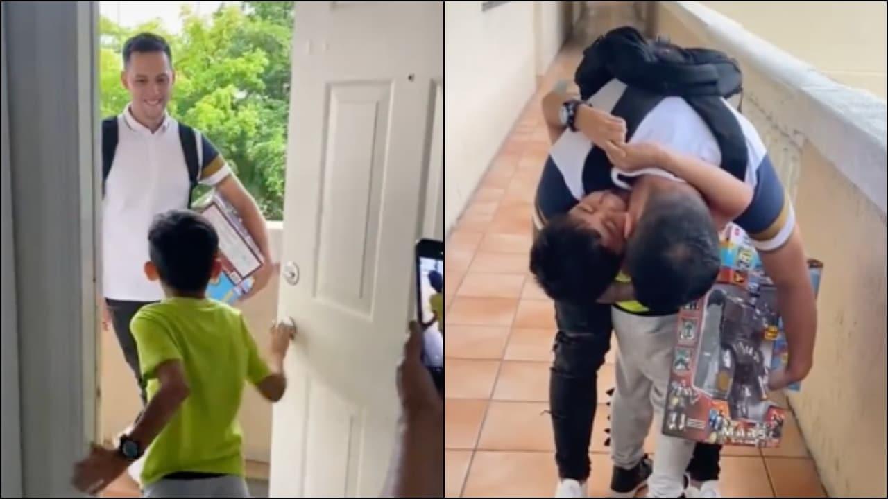 Niño y su papá tienen reencuentro tras 2 años de no verse