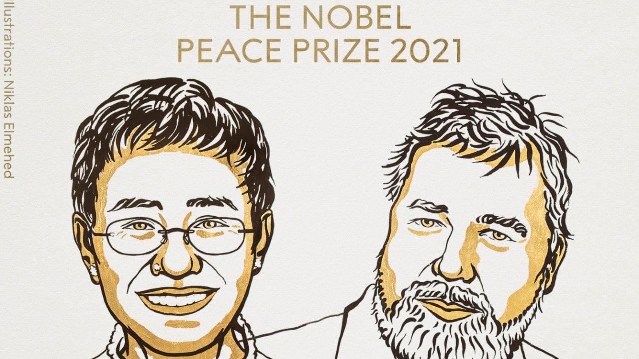 Premio Nobel de la Paz 2021 para los periodistas Maria Ressa y Dmitry Muratov