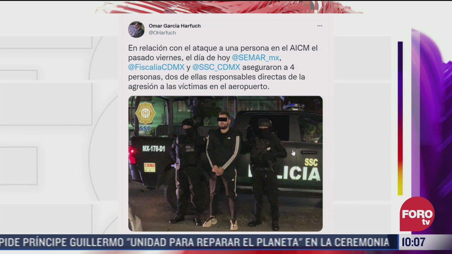 omar garcia harfuch confirma detencion de implicados en tiroteo en aicm