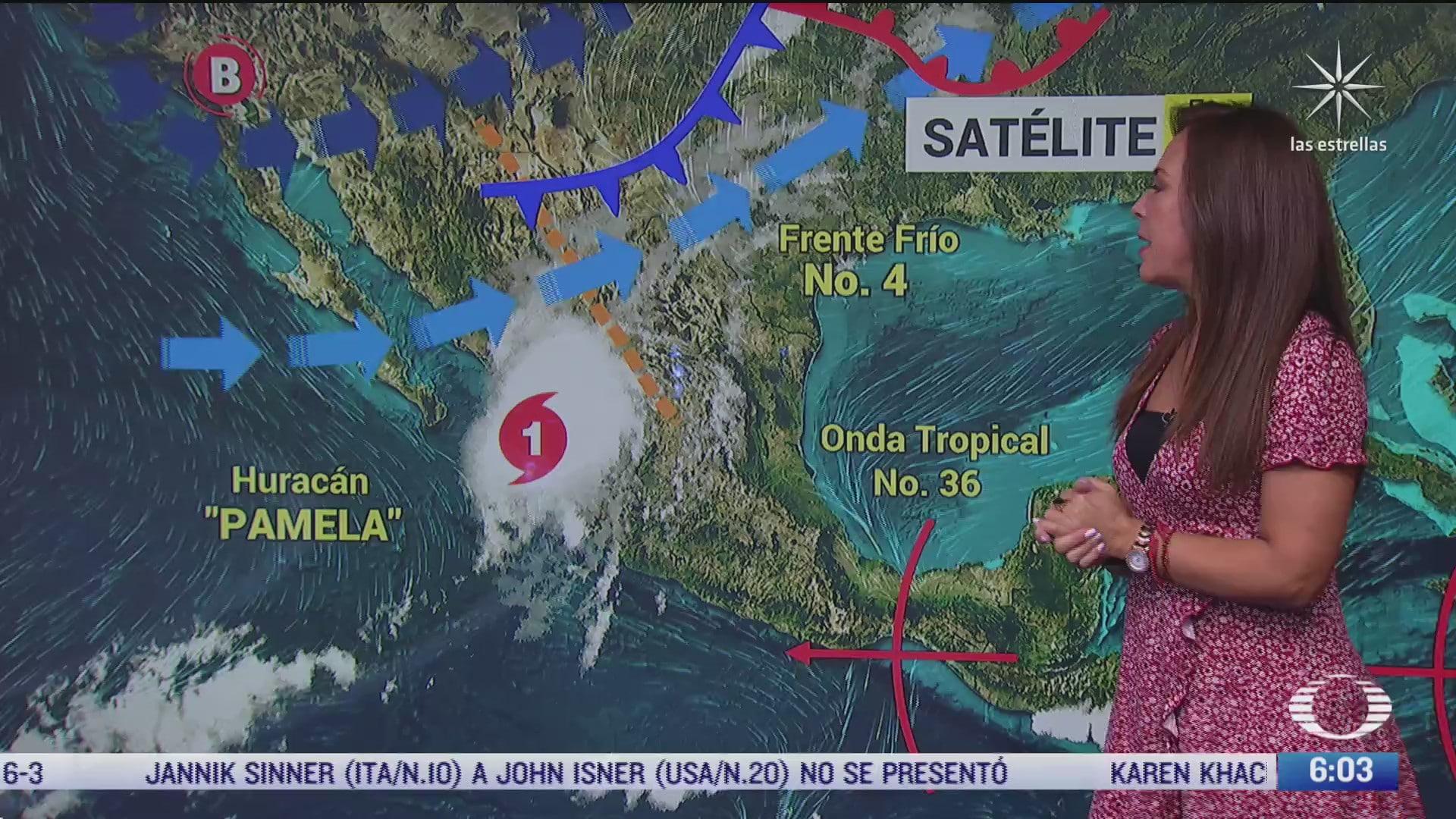 pamela provocara fuertes lluvias en zonas de durango sinaloa y nayarit